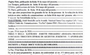 Un juez pide a 5 medios grabaciones y nombres de periodistas que cubrieron noticia del caso Zapata