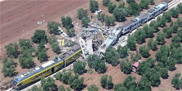 Accidente en tren de Italia deja al menos 20 muertos