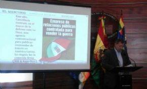 """Gonzales denuncia que Chile contrató una agencia experta en """"mentiras"""" para proceso en La Haya"""