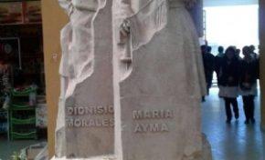 En Punata hay un supermercado con el nombre de Evo Morales y una estatua de sus padres