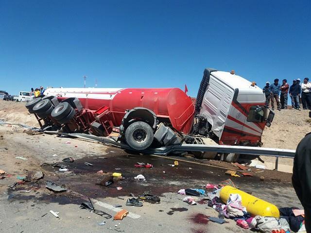 Accidente en Caracollo dejó nueve personas fallecidas