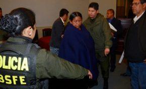 Nemecia Achacollo fue enviada a la cárcel de Miraflores de manera preventiva
