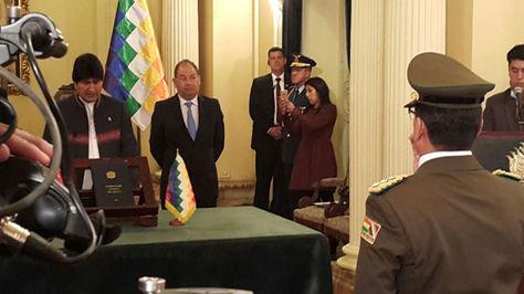 René Salazar fue posicionado como nuevo comandante de la Policia