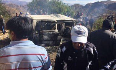 Tres personas murieron en accidente de tránsito en la carretera Cochabamba - Oruro