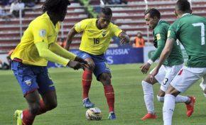 Bolivia empató con Ecuador y se alejó de una posible clasificación a Rusia 2018