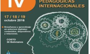 Organizan las IV Jornadas Pedagógicas Internacionales