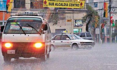 Senamhi anunció probalidades de lluvias en La Paz y El Alto