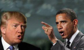 Trump y Obama se ven las caras en la casa blanca