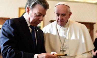 Santos pide ayuda al Papa para la paz en Colombia