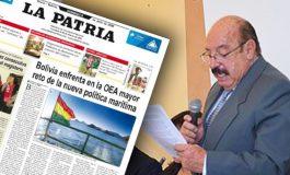 Muere el director del diario La Patria de Oruro