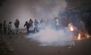 Camiri vive una jornada violenta, entre gasificaciones y enfrentamientos
