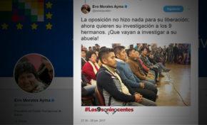 Evo Morales les dice a los opositores que vayan a investigar a su abuela!