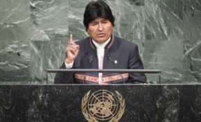 ONU: Morales expresa condolencias a víctimas de terrorismo