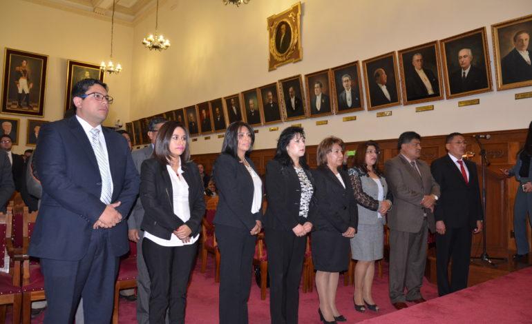 TSJ posesionó a nuevos vocales de los tribunales de justicia de Chuquisaca, Tarija y La Paz