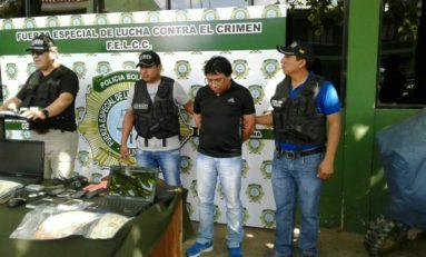 """Gobierno presenta a supuesto extorsionador, administrador de """"Cachi Noticias"""""""