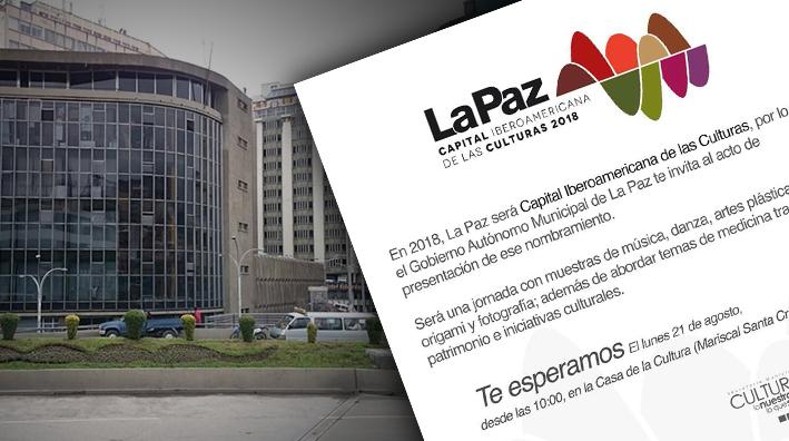 Invitan a sumarse al programa de La Paz, Capital Iberoamericana de las Culturas 2018