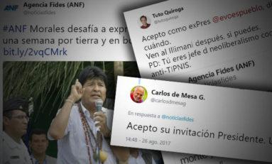 Carlos D Mesa y Jorge Quiroga aceptan desafío de Evo Morales para viajar al TIPNIS