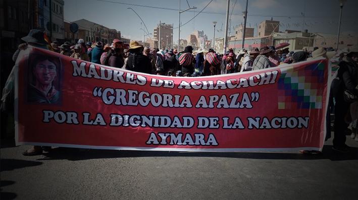 Mujeres de Achachi ingresan a la ciudad de La Paz y El Mallku se desvincula de la oposición