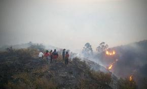 En el Tunari, un voraz incendio consumió más de 2 mil hectáreas