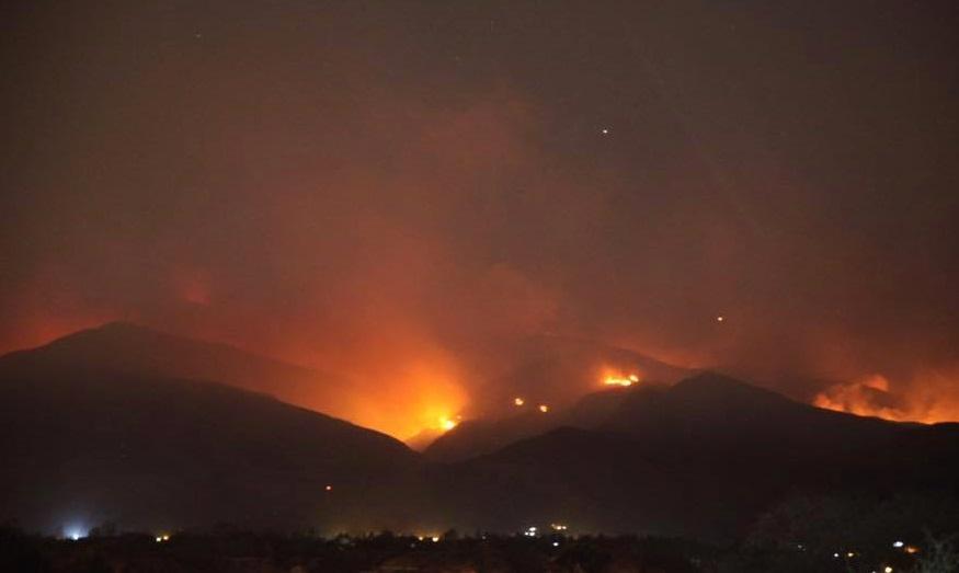 Incendio en la reserva de Sama en el departamento de Tarija