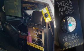 Easy Taxi sorprende con instalación de espejos retrovisores para pasajeros