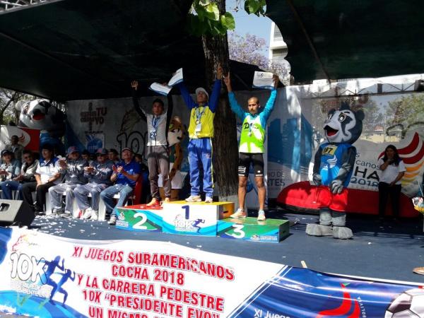 Fernández y Mendoza triunfan en 10K cochabambina