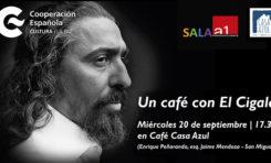 """Invitan a tomarse """"Un café con El Cigala"""""""
