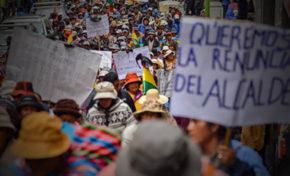 Lunes de movilizaciones en la ciudad de La Paz y El Alto a raíz del conflicto de Achacachi