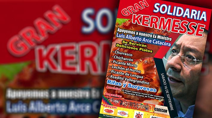 Kermesse solidaria para Luis Arce Catacora
