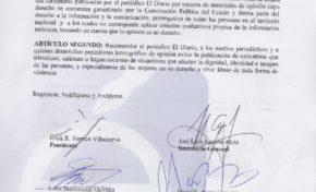 TNÉP desestima denuncia del colectivo Ni Una Menos contra El Diario