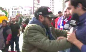 Hincha boliviano que agredió a periodista chileno dice que fue provocado