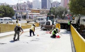 Por mantenimiento el puente de la calle 5 de Obrajes estará cerrado hasta el miércoles