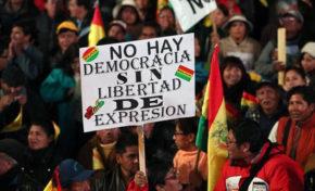 Miles de personas protestaron en Bolivia en contra de la reelección indefinida de Evo Morales