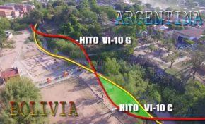 Insólito pero real, una cancha en dos países: el campo de juego en Bolivia y la tribuna en Argentina