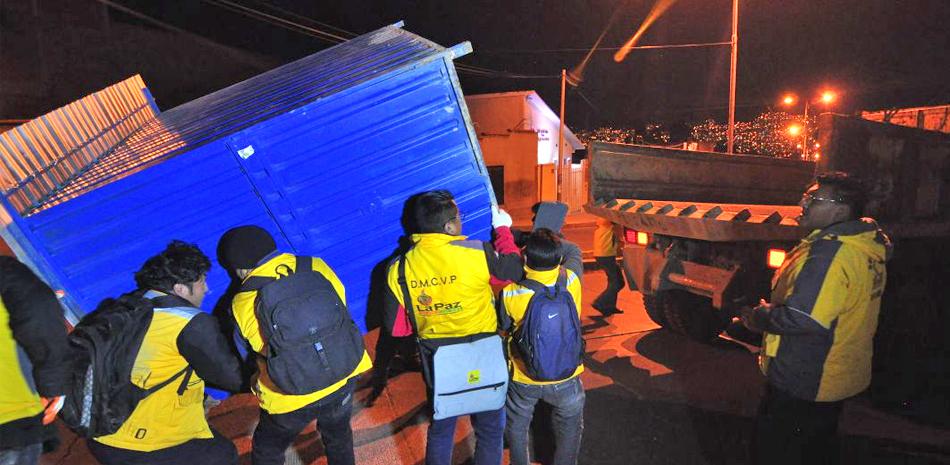 Operativo municipal recupera predio edil de 800 m2 en Llojeta