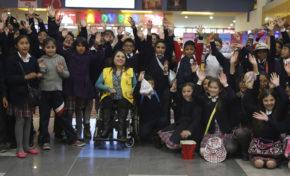 Concejo y Megacenter impulsan la primera función de Cine Azul para niños con autismo