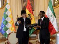 El presidente de Guinea Ecuatorial, Teodoro Obiang Nguema planteó consolidar intercambios económicos, comerciales y tecnológicos con Bolivia