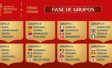 FIFA definió los grupos y choques del Mundial 2018