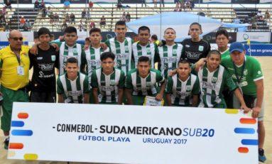 Con camisetas prestadas, Bolivia pasa un bochornoso debut en el Sudamericano de Fútbol Playa