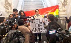 """Senadora Gonzales se declara en huelga de hambre contra el """"maldito"""" Código Penal"""