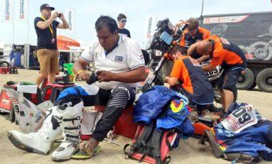 Nogales, el primer boliviano en abandonar el Rally Dakar