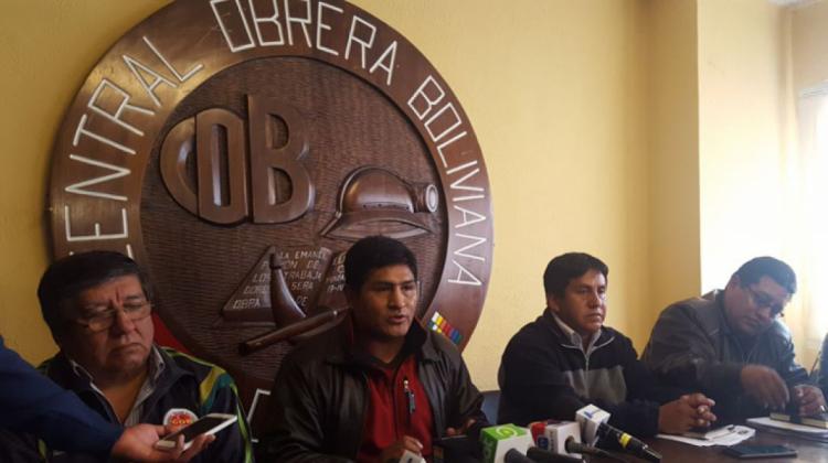 COB encabezará movilizaciones a favor de la abrogación del Código del Sistema Penal