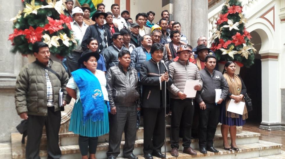 Morales pedirá a la Asamblea Legislativa la abrogación de los artículos 205 y 137