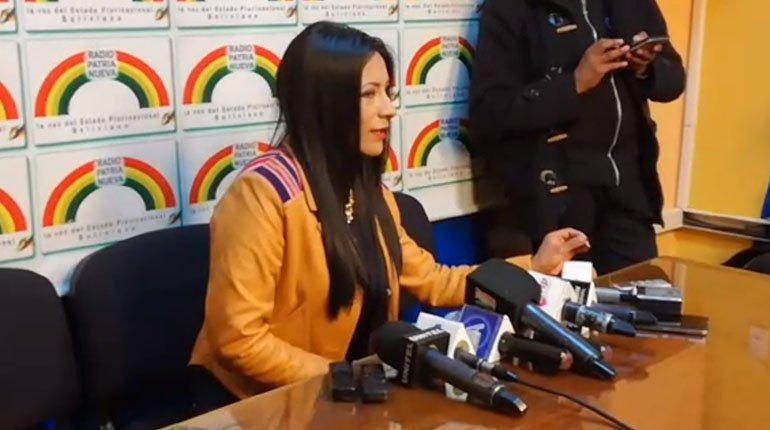 """Alanoca acusa a la oposición de agarrar """"broma"""" de Evo para afectar nueva candidatura y generar violencia contra las mujeres"""