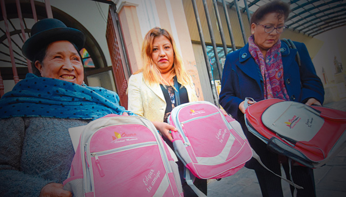 Concejal de Oruro acusa de sobreprecio de mochilas en Oruro