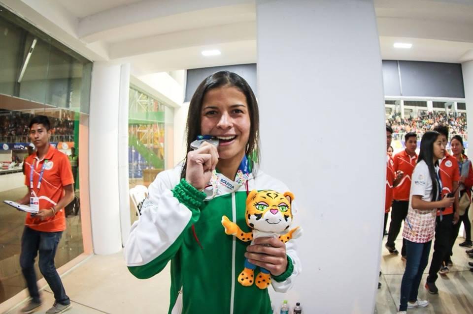 Karen Torrez le regala otra medalla de plata a Bolivia