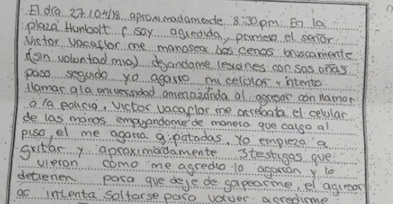 Denuncian al hijo de la diputada Brito por agredir a una estudiante de la UMSA