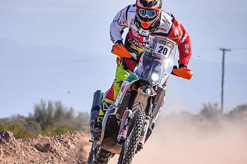 Daniel Nosiglia a un paso de entrar en el «top ten» de motos en el Dakar 2019
