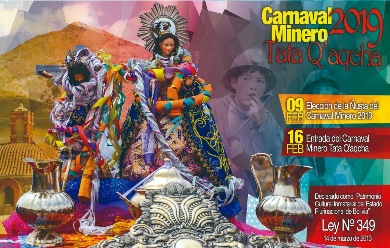 Lanzan carnaval minero Tata Q'aqcha 2019 y exhortan trámite para su salvaguarda