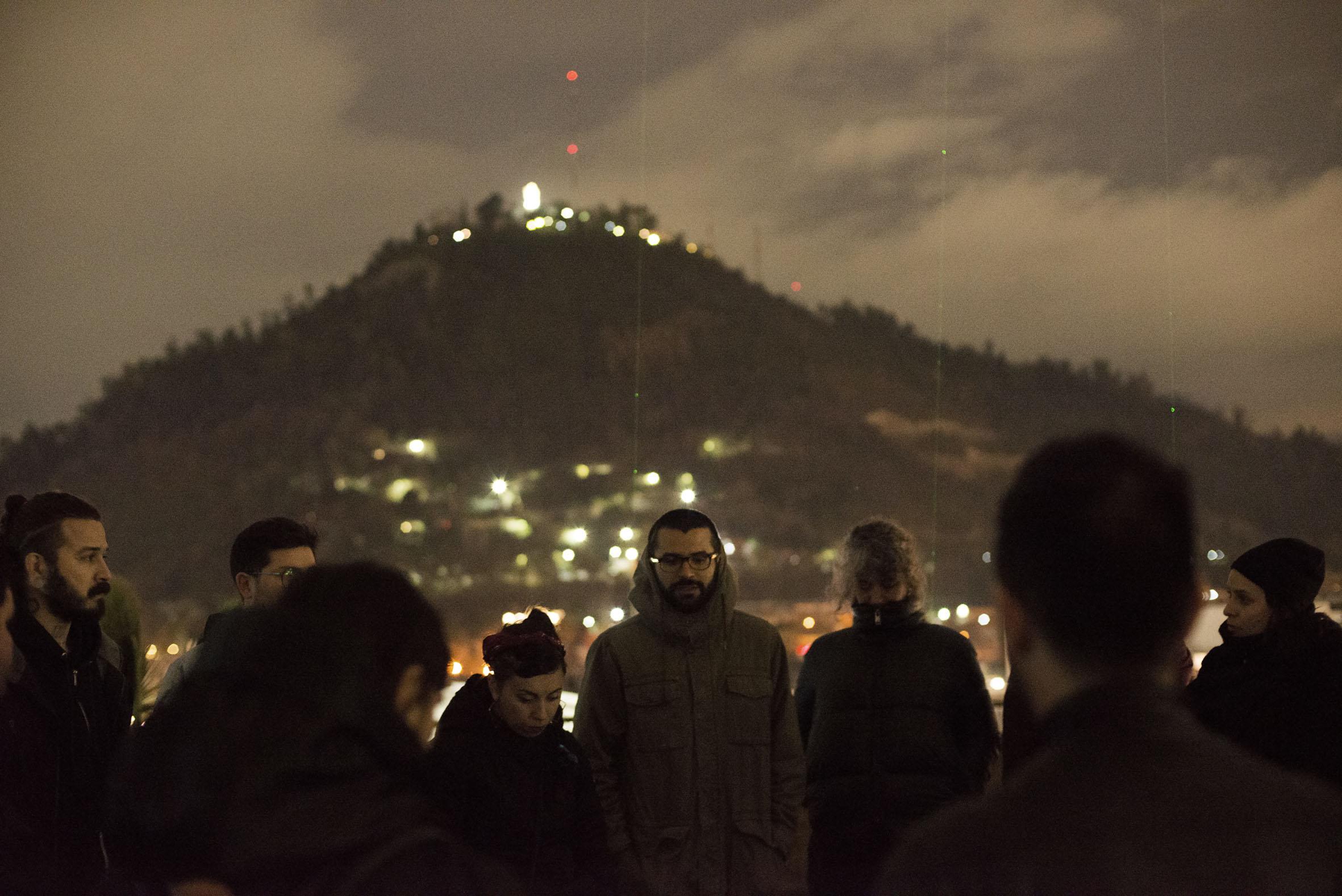 Manifiesto de Luz, site specific, por Aldair Indra, realizado en Galeria CIMA, Santiago de Chile